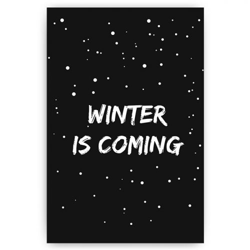 poster sneeuw tekst winter is coming