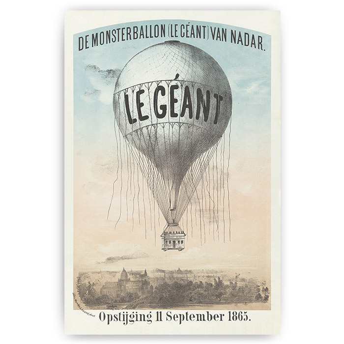 poster vintage luchtballon