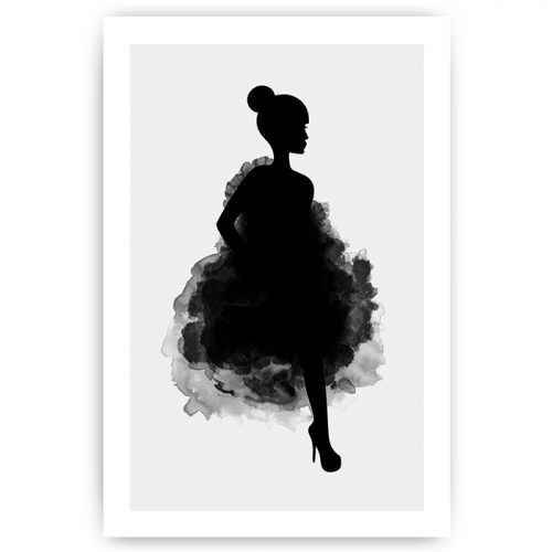 Poster silhouet vrouw