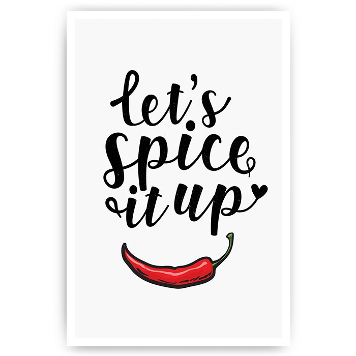 poster keuken let's spice it up