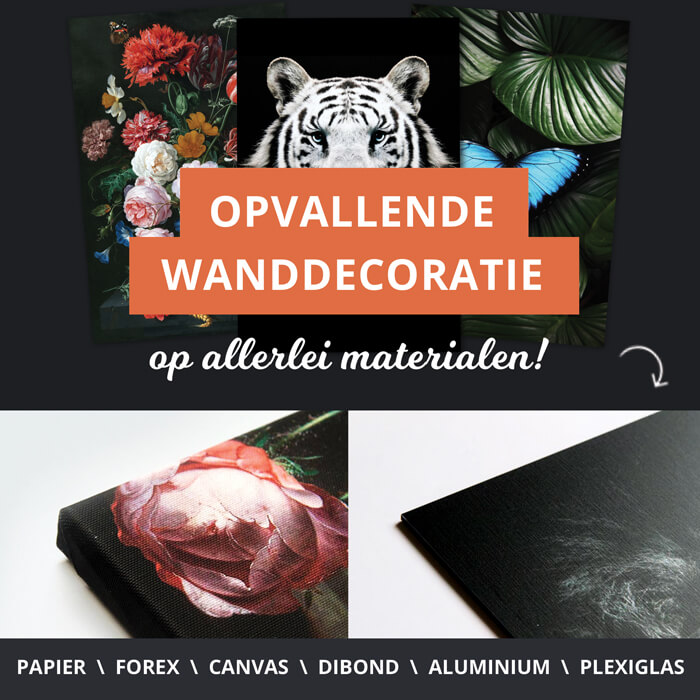 poster materialen wanddecoratie