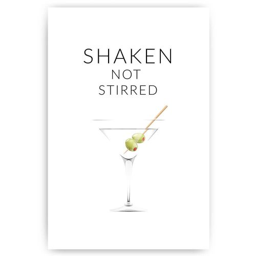 Poster shaken not stirred