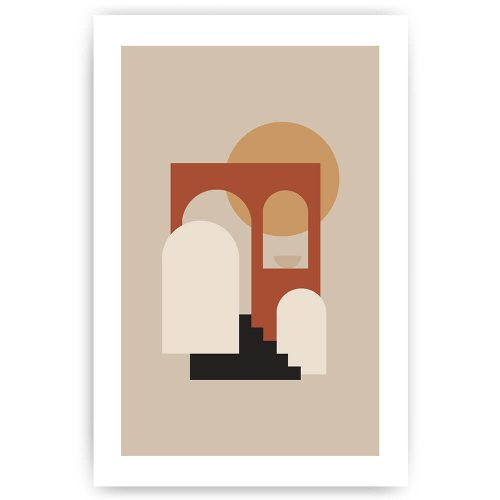 Poster abstracte poort