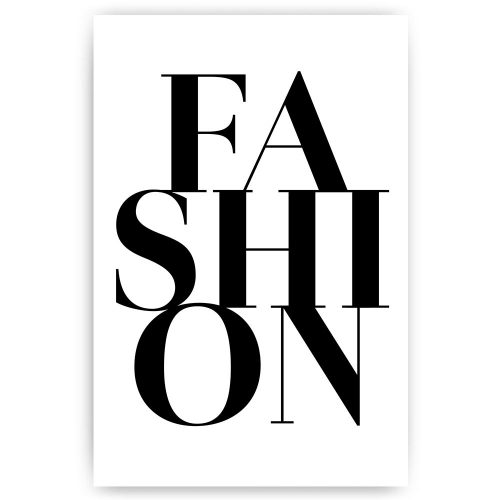 poster tekst fashion