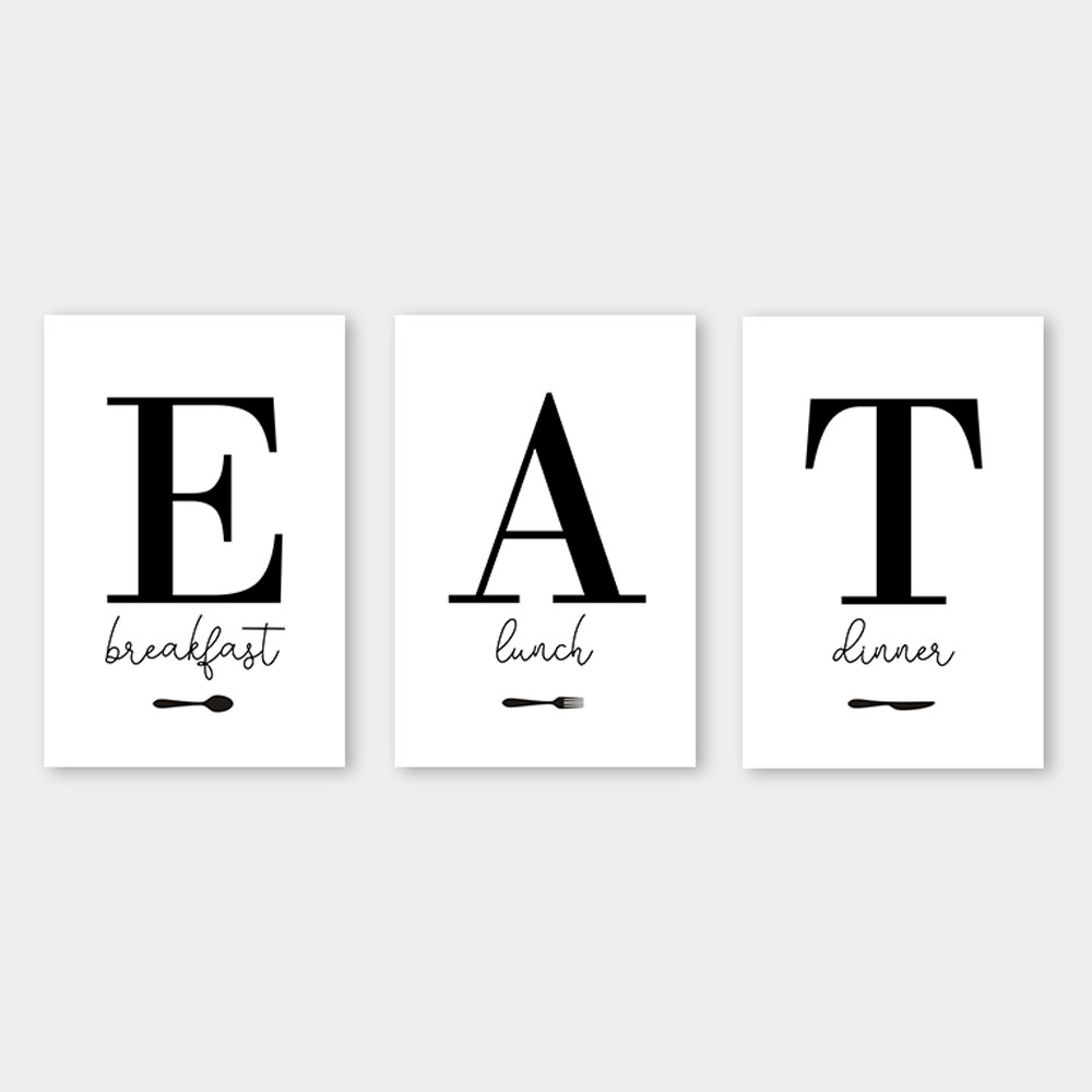 poster set eat letters